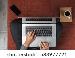 person using new modern laptop... | Shutterstock . vector #583977721