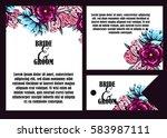 romantic invitation. wedding ... | Shutterstock .eps vector #583987111