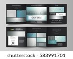 set of business templates for... | Shutterstock .eps vector #583991701