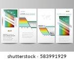 flyers set  modern banners.... | Shutterstock .eps vector #583991929