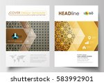 business templates for brochure ... | Shutterstock .eps vector #583992901