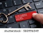closed up finger on keyboard... | Shutterstock . vector #583996549