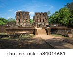 ancient city of polonnaruwa ... | Shutterstock . vector #584014681