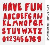 doodle font 3d alphabets...