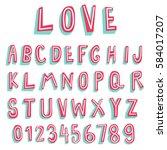 Doodle Font 3d Alphabets Two...