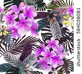 vector seamless pattern  of... | Shutterstock .eps vector #584038081