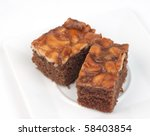 Thai food snack cake on white background. - stock photo