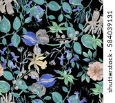 watercolor seamless pattern...   Shutterstock . vector #584039131