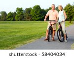 happy elderly senior couple... | Shutterstock . vector #58404034