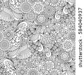 sketchy doodles decorative...   Shutterstock .eps vector #584040937