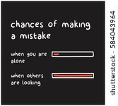 chances of making a mistakes  ... | Shutterstock .eps vector #584043964