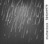 rain transparent vector... | Shutterstock .eps vector #584049979
