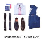 office clothes on white... | Shutterstock . vector #584051644
