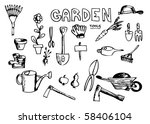 garden tools   Shutterstock .eps vector #58406104