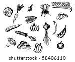 vegetable | Shutterstock .eps vector #58406110
