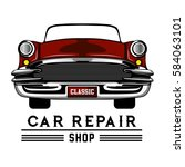 classic car service | Shutterstock .eps vector #584063101