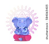 illustration of ganesh indian... | Shutterstock .eps vector #584065405