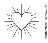 heart love sunburst icon | Shutterstock .eps vector #584067244