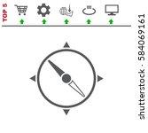 compass icon vector flat design ...