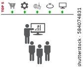 presentation icon vector flat... | Shutterstock .eps vector #584074831