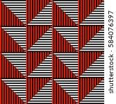 seamless vector abstract... | Shutterstock .eps vector #584076397