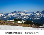 Snow Covered Mountains In The...