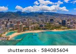 Aerial View Of Waikiki Beach In ...