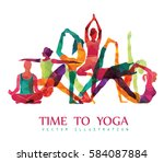 Yoga Colorful Fitness Concept....