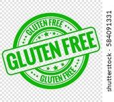 vector gluten free stamp... | Shutterstock .eps vector #584091331