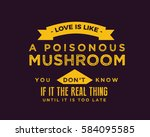 love is like a poisonous... | Shutterstock .eps vector #584095585