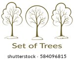 landscapes  symbolic trees... | Shutterstock .eps vector #584096815