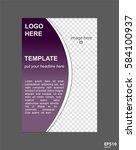 vector brochure page concept... | Shutterstock .eps vector #584100937