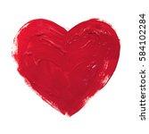 acrylic heart hand drawn... | Shutterstock . vector #584102284