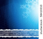 industrial background. vector. | Shutterstock .eps vector #58410310