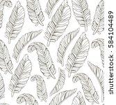 tropical trendy seamless... | Shutterstock .eps vector #584104489