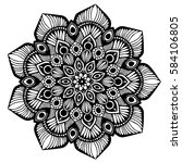 mandalas for coloring book.... | Shutterstock .eps vector #584106805