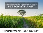 inspirational motivating quote... | Shutterstock . vector #584109439