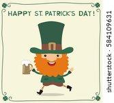 happy saint patrick's day ... | Shutterstock .eps vector #584109631