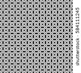 repeated white figures on black ...   Shutterstock .eps vector #584111245
