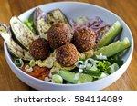 vegetarian falafels and... | Shutterstock . vector #584114089