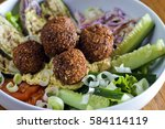 vegetarian falafels and... | Shutterstock . vector #584114119