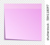 pink sticky note isolated on... | Shutterstock .eps vector #584118097