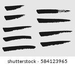 set of black paint  ink brush... | Shutterstock .eps vector #584123965