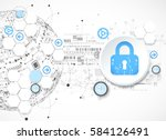 protection concept. security... | Shutterstock .eps vector #584126491