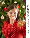 Young Girl Eating Reindeer...