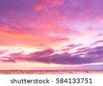 idyllic wallpaper fiery cloud  | Shutterstock . vector #584133751