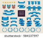 vector ribbon set. banner... | Shutterstock .eps vector #584137597