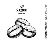 vector background with coffee . ... | Shutterstock .eps vector #584148649
