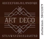 art deco alphabet vector font... | Shutterstock .eps vector #584152879