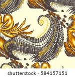 textile print design | Shutterstock . vector #584157151